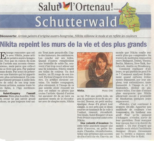 Article parue dans Salut l'Ortenau