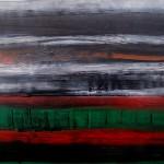Image abstraite Vert et rouge sur l'arbre de vie